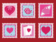 Valentine stamps Royalty Free Stock Image