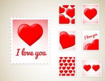 Valentine Stamps Stockbild