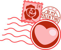 Valentine Stamps Royalty Free Stock Photography