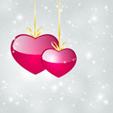 Valentine starry background Stock Photo