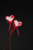Valentine on a stick Royalty Free Stock Image