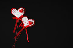 Valentine on a stick Royalty Free Stock Images