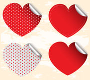 Valentine sticker Stock Image