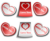 Valentine sticker set Stock Photo