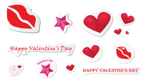 Valentine stickers Royalty Free Stock Images