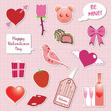 Valentine stickers Stock Photography