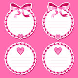 Valentine stickers Royalty Free Stock Photography