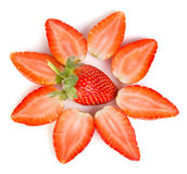 Valentine strawberry Stock Photography