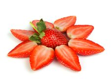 Valentine strawberry Royalty Free Stock Images