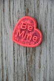 Valentine sugar cookie that reads 'Be Mine' Royalty Free Stock Photo