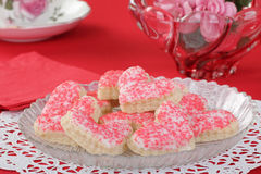 Valentine Sugar Cookies Royalty Free Stock Photography
