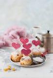 Valentine Sultana Cupcakes Royalty Free Stock Photo