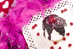 Valentine Sundae Cupcake Royalty Free Stock Photo