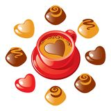 Valentine sweet coffee Royalty Free Stock Photo