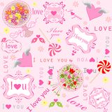 Valentine sweet wallpaper Stock Photography