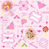 Valentine sweet wallpaper Stock Photography