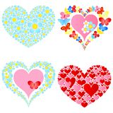 Valentine symbolic hearts Stock Photo