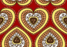 Valentine szczęśliwa karta Zdjęcie Stock