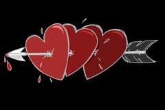 Valentine szczęśliwa karta Fotografia Royalty Free
