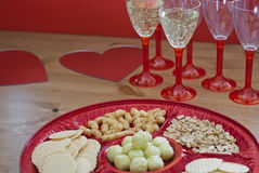 Valentine table setting Royalty Free Stock Image