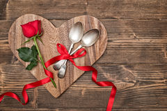 Valentine Table Setting Images libres de droits