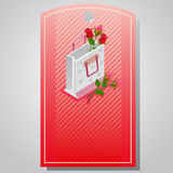 Valentine tag packaging. Tag or ticket for valentine sale Stock Image