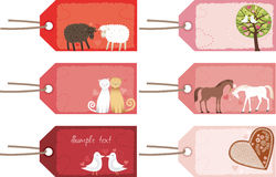 Valentine tags Royalty Free Stock Image