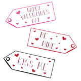 Valentine Tags Stock Image
