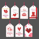 Valentine tags 2. Vector works, Valentine's day tags set Royalty Free Stock Image