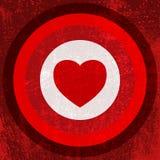 Valentine Target Imagem de Stock