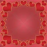 Valentine& x27; tarjeta de s Foto de archivo libre de regalías