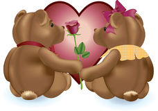 Valentine Teddies Royalty Free Stock Images