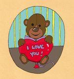 Valentine Teddy bear Stock Photo