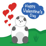 Valentine Teddy Bear Photo libre de droits