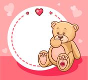 Valentine teddy bear with sign Royalty Free Stock Photography