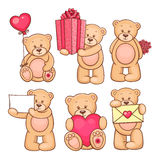 Valentine teddy bears collection 3 Royalty Free Stock Image