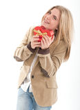 Valentine for teenage girl Stock Images