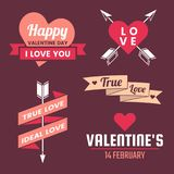 Valentine template banner Vector background for banner. Poster, flyer Royalty Free Stock Photos