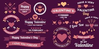 Valentine template banner Vector background for banner Stock Photography
