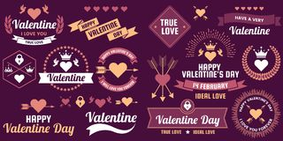 Valentine template banner Vector background for banner Stock Photo