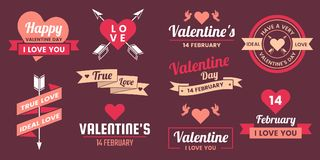 Valentine template banner Vector background for banner Stock Image