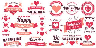 Valentine template banner Vector background for banner Royalty Free Stock Photos