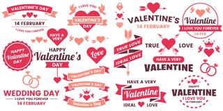 Valentine template banner Vector background for banner Royalty Free Stock Photography