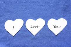 Valentine text hearts Royalty Free Stock Photo