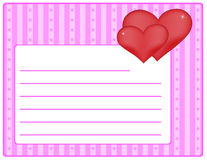 Valentine theme - card Royalty Free Stock Photography