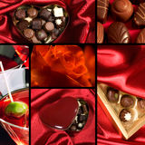 Valentine theme collage Royalty Free Stock Photography