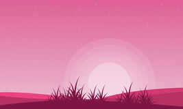 Valentine theme field with pink backgrounds. Vector illustration royalty free illustration