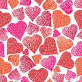 Valentine theme seamless background, hearts seamless pattern, ve Royalty Free Stock Image