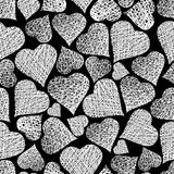 Valentine theme seamless background, hearts seamless pattern, ve Stock Photo