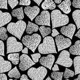 Valentine theme seamless background, hearts seamless pattern, ve Stock Photo